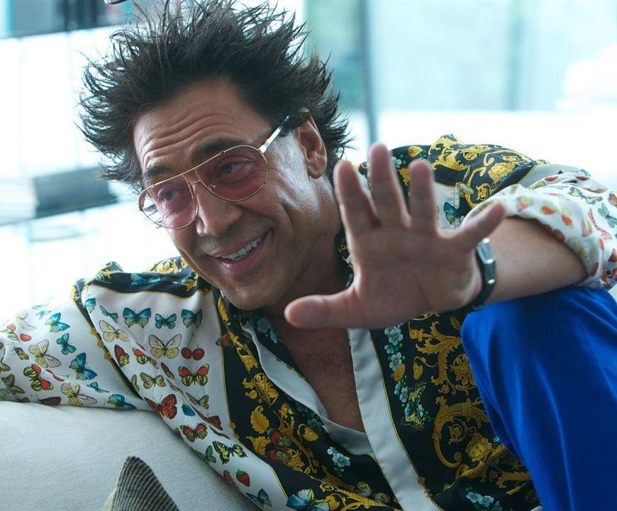 """Javier Bardem, une fois de plus grimé pour le film """"Cartel"""". Enfin grimé... Juste un peu de gel dans cheveux."""